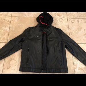 Men's Black Rivet leather Jacket